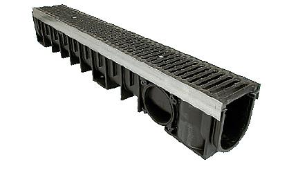 Zátěžový systém odvodnění KENADRAIN HEAVY DUTY 200mm METAL, norma EN 1433