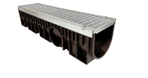 Zátěžový systém odvodnění KENADRAIN HEAVY DUTY 150mm METAL, norma EN 1433