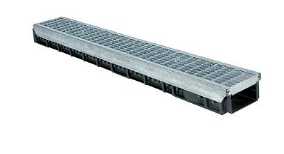 Nízkoprofilový zátěžový systém odvodnění parkovišť KENADRAIN HEAVY DUTY 100mm METAL, norma EN 1433